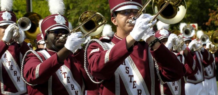 EKU Marching Band performance